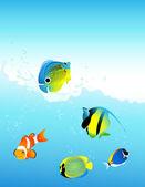 Mořské ryby — Stock vektor