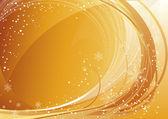 Golden winter pattern — Stock Vector
