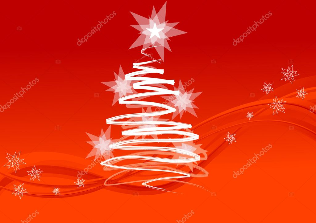 Background for Christmas card, Christmas tree, vector illustration, EPS and AI files included — Stock Vector #1638462