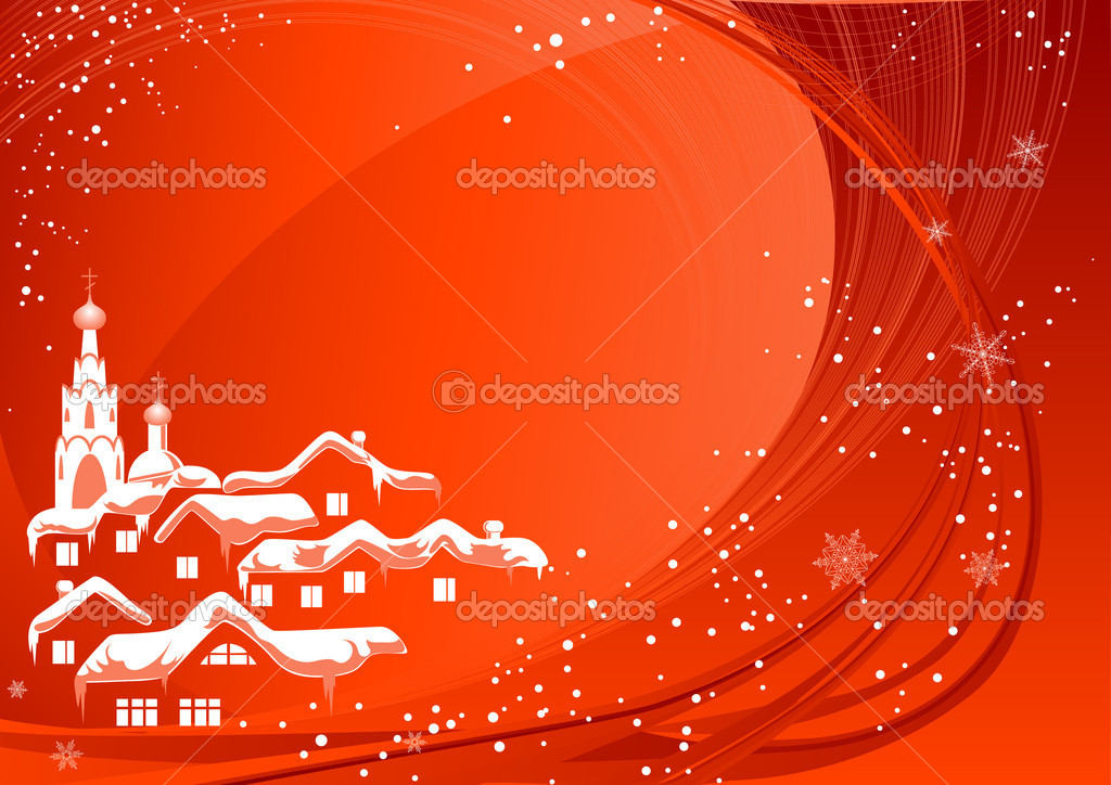 Red Christmas country, vector illustration, EPS and AI files included — Stock Vector #1638535