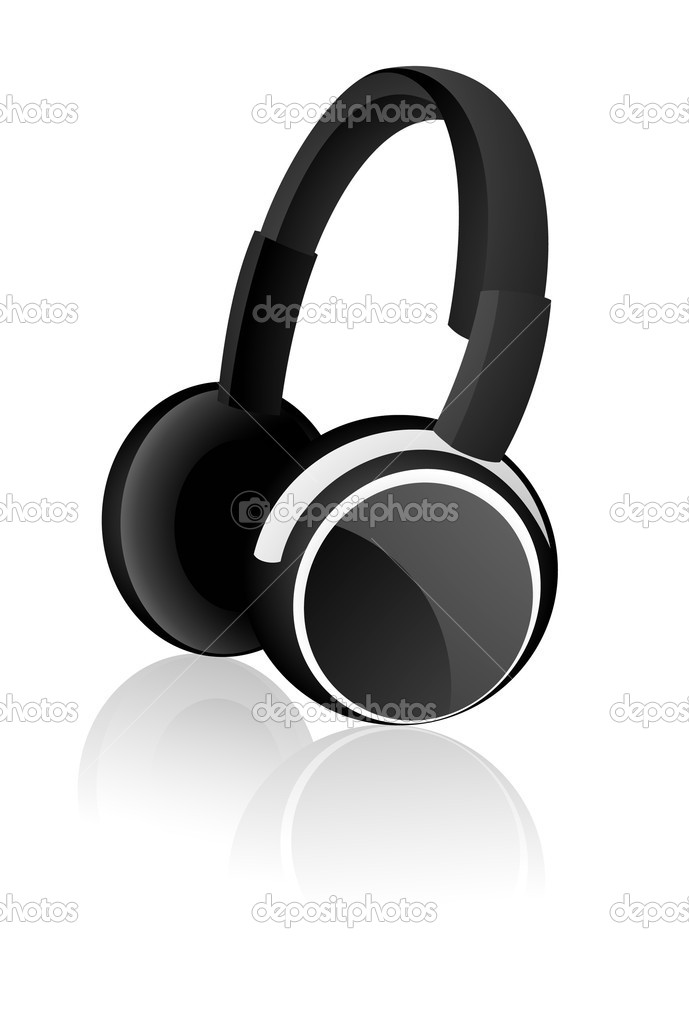 Headphones, vector illustration, EPS and AI files included — Stock Vector #1638665