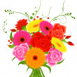 Bunch of flowers - Stock Vector