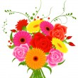 Royalty-Free Stock Imagen vectorial: Bunch of flowers