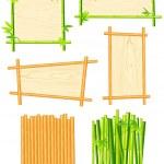 Bamboo frame set — Stock Vector