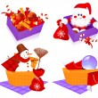 Stock Vector: Christmas baskets