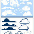 Royalty-Free Stock Vectorielle: Clouds
