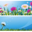 Flower backgrounds — Stock Vector