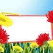 Frame_in_the_flower_field — Image vectorielle