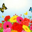 Summer flower background — Imagen vectorial