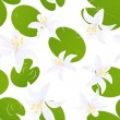 Seamless lily isolated background — Image vectorielle