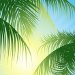 Royalty-Free Stock Vektorfiler: Sun_rays_through_the_tropical_leaf