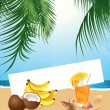 Tropical still life — Stock Vector
