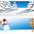Two winter backgrounds — Vector de stock