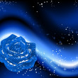 Winter rose - Imagen vectorial
