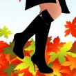 Stock Vector: Autumn boots