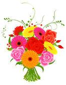 Ramo de flores — Vetorial Stock