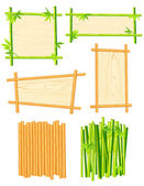 Bamboo frame set — Stock Vector