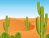 Cactus in the desert — Stock Vector