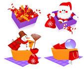 Cestas de Natal — Vetor de Stock