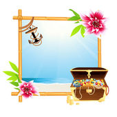 Frame with riches — Stock Vector
