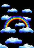 Rainbow_in_the_night — Stock Vector