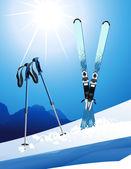 Ski — Stock Vector
