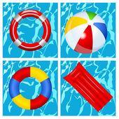 Brinquedos na piscina — Vetorial Stock