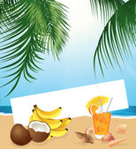 Tropical still life — Stock Vector