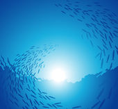 Underwater school — Stock Vector