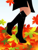 Autumn boots — Stock Vector