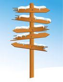 Winter_arrow — Stock Vector