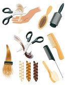 Elementos de estilo de cabelo — Vetorial Stock