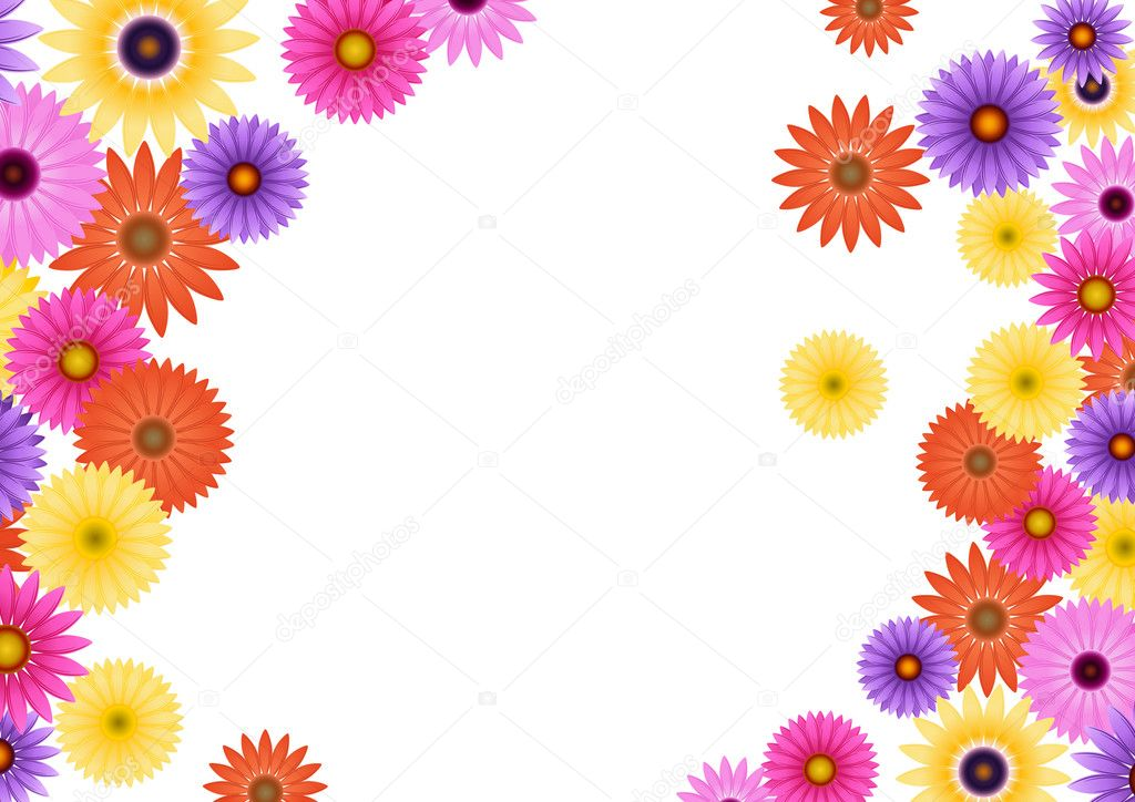 Aster flower background — Stock Vector #1708165