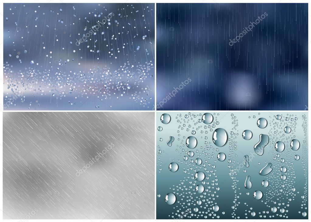 Rain drops, vector illustration — Stock Vector #1708434