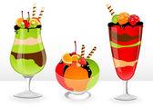 Fruit desserts — Stock Vector