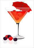 Raspberry cocktail — Stock Vector