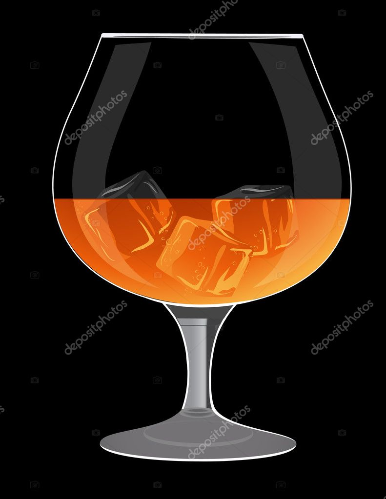 Brandy Glass Brandy Glass Vector