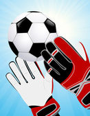 Goalkeeper hands — Stock Vector