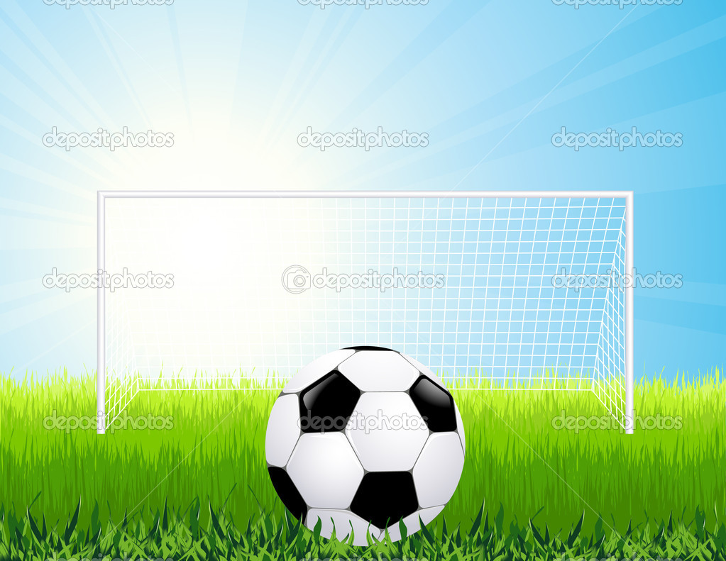 Penalty kick,  vector illustration — Stock Vector #1829619