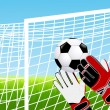 Goalkeeper - Stock Vector