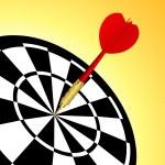 Dart target — Stock Vector