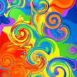 Abstract rainbow background — Vettoriali Stock