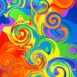 Abstract rainbow background — Stok Vektör