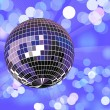 disco bal in intreepupil licht — Stockvector