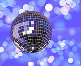 Disco ball in defocused light — Vecteur