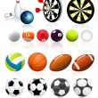 Stock Vector: Ball collection