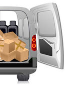 Delivery minibus — Stock Vector