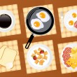 Breakfast food set — Stock Vector