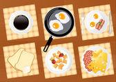 Breakfast food set — Stock Vector