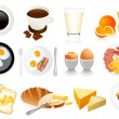 Breakfast icons — Stock Vector